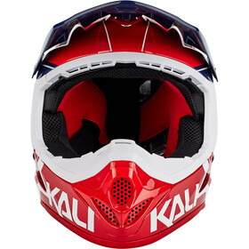 Kali Zoka Helm Herren rot/blau/weiß